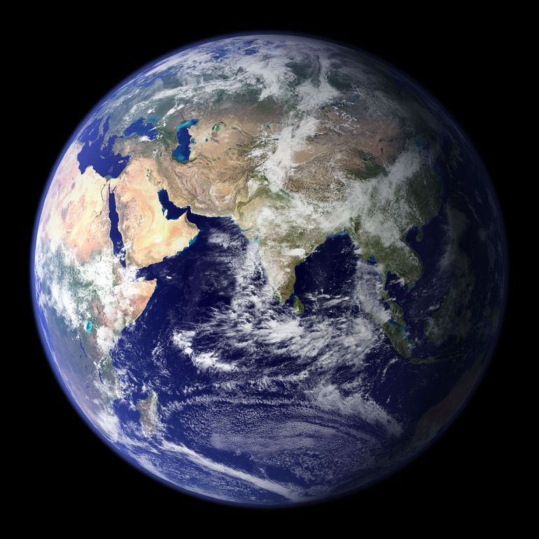 NASA Blue Marble of the Earth's Eastern Hemisphere