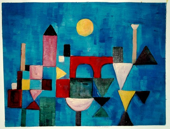 Paul Klee, Red Bridge (1928) - da etsy