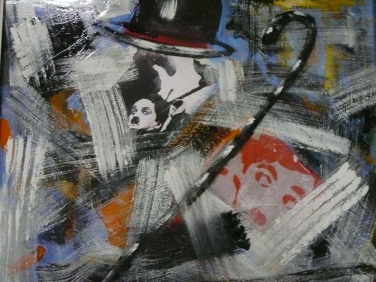 Sandro Sabatini, Il mio grande amico, Charlie Chaplin, 2013 - da Artmajeur