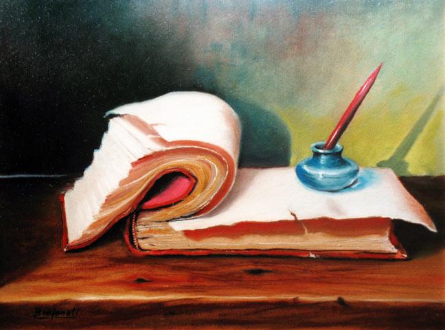 Bruno Benfanti, Libro e calamaio