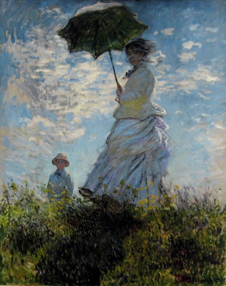Claude Monet, Madame Monet e suo figlio 1875 olio su tela. National Gallery of Art di Washington D.C., USA