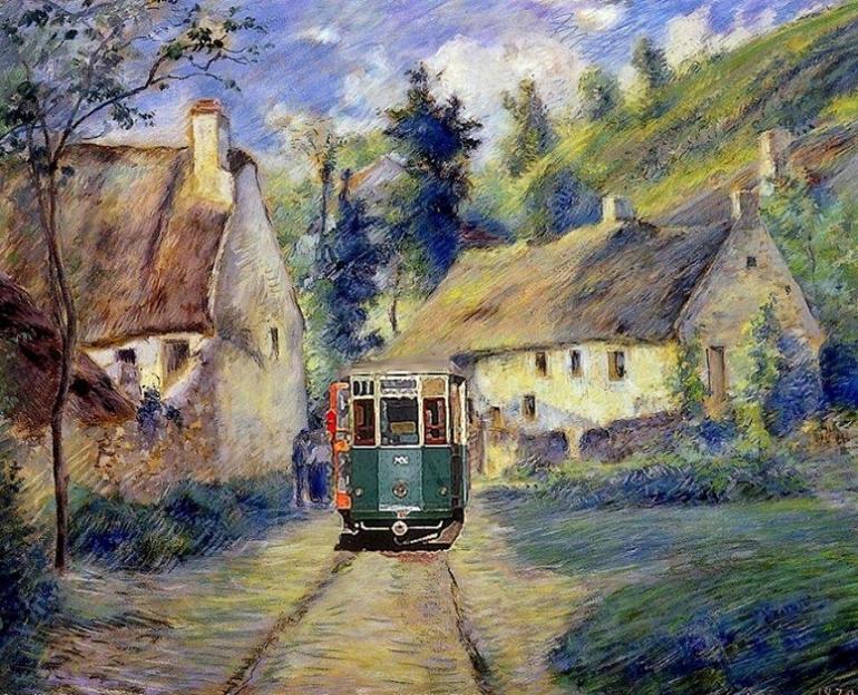 Un treno dentro il quadro!, 1879 - Camille Pissarro (1830-1903)