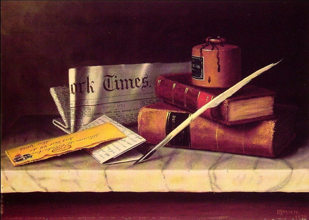 william michael harnett, natura morta con lettera 1879 - da Settemuse