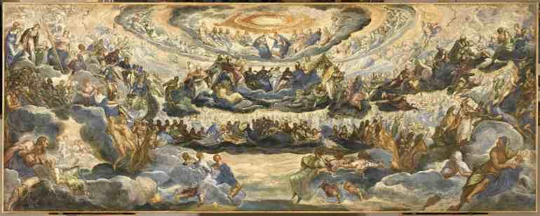 Tintoretto – Incoronazione della Vergine, o Paradiso – 1579-1582 (già 1588) – Parigi, Musée du Louvre